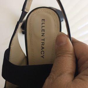 Ellen Tracy Shoes - Ellen Tracy Josie Black Strapped Sandals Size 10